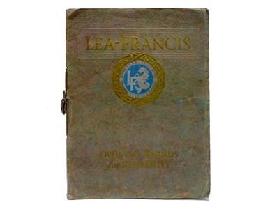 Lot 45 - Lea-Francis Prestige Sales Brochure