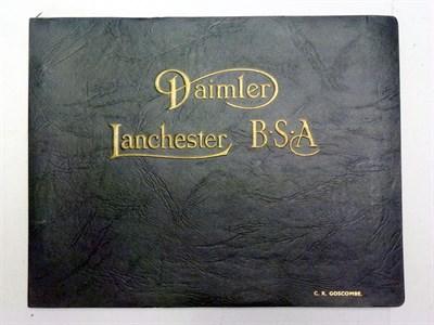Lot 51 - Daimler, Lanchester & B.S.A Illustrations