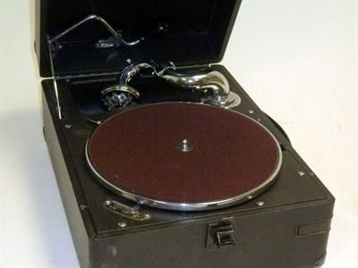 Lot 12 - An H.M.V. Portable Gramophone