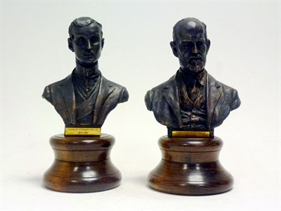 Lot 24 - Pair of Bronze Busts of Rolls & Royce