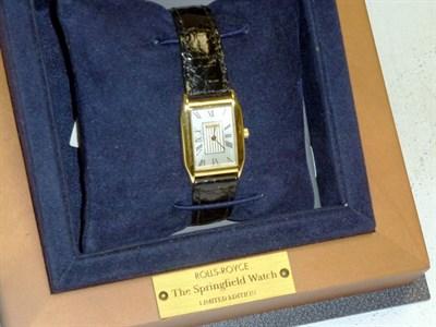 Lot 32 - Rolls-Royce Gold Wristwatch by Baume & Mercier Switzerland