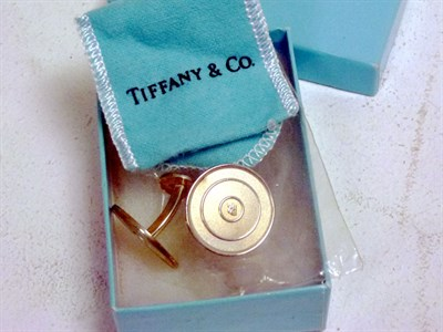 Lot 34 - A Pair of Sterling Silver Tiffany Cufflinks