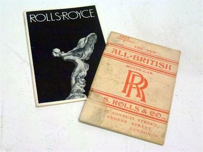 Lot 48 - C. S. Rolls-Royce & Co. Catalogue