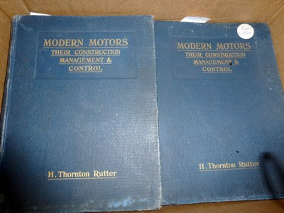 Lot 50 - H. Thornton Rutter 'Modern Motors, Their Construction etc...'