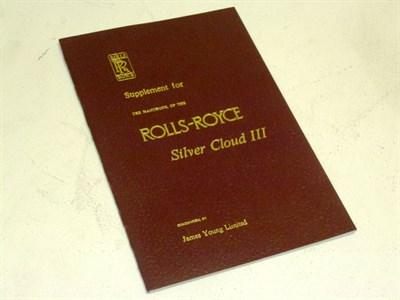 Lot 52 - Rolls-Royce SCIII James Young Supplement