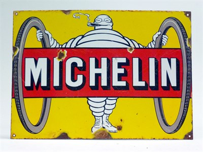 Lot 80 - 1920's Michelin Tyres Pictorial Enamel Sign