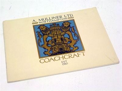 Lot 88 - A. Mulliner Ltd Coachcraft Brochure