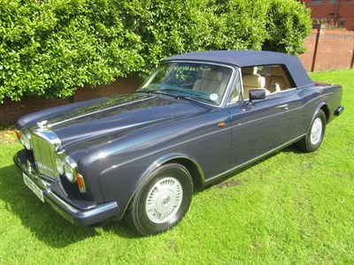 Lot 34-1990 Bentley Continental Convertible