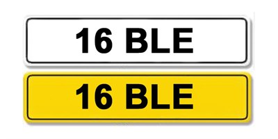 Lot 1 - Registration Number 16 BLE