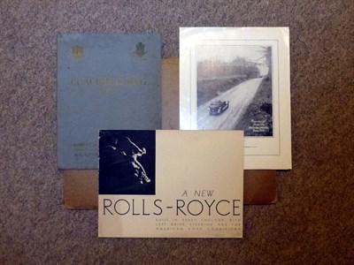 Lot 7 - Rolls-Royce Springfield Sales Catalogue