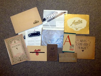 Lot 9 - Quantity of Pre-war Sales Brochures