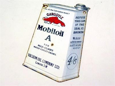 Lot 21 - Gargoyle Mobiloil A 'Can' Shaped Enamel Sign