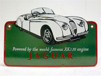Lot 40 - Jaguar XK140 Enamel Advertising Sign