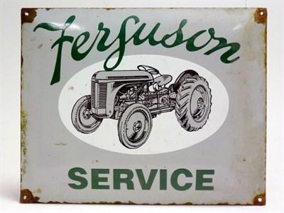 Lot 38 - Ferguson Service Tractor Pictorial Enamel Sign