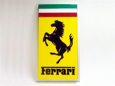 Lot 28 - Ferrari Illuminated Lightbox