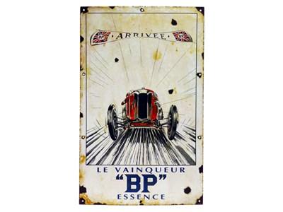 Lot 27 - 'Le Vainquer' BP Pictorial Enamel Sign