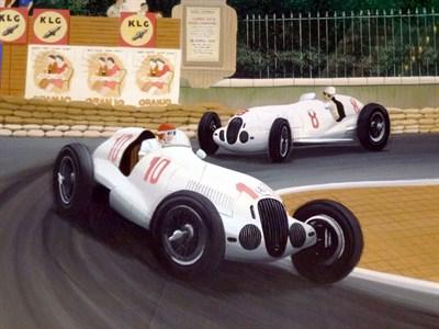Lot 14 - Mercedes-Benz W125 at Monaco Original Artwork