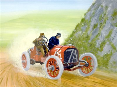Lot 12 - 1908 Targa Florio Original Artwork