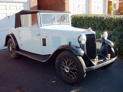 Lot 3-1935 Armstrong Siddeley 12hp Drophead Coupe
