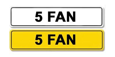 Lot 55 - Registration Number 5 FAN