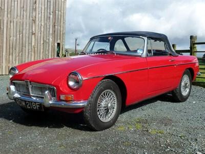 Lot 3 - 1967 MG B Roadster