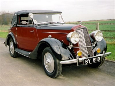 Lot 26 - 1937 Humber 12 Foursome Drophead Coupe