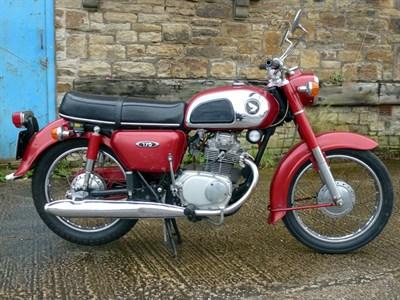 Lot 12 - 1973 Honda CD175 K4