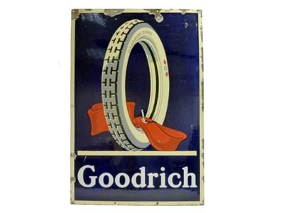 Lot 43-Goodrich Tyres Enamel Advertising Sign