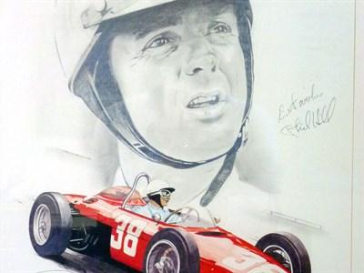 Lot 40-Phil Hill Signed Original Artwork