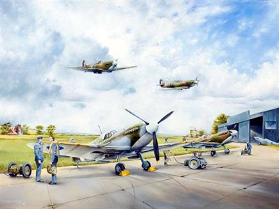 Lot 38-'Return from Ops' Original Artwork by Murray