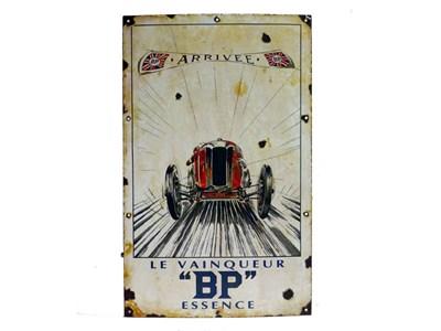 Lot 28-'Le Vainquer' BP Pictorial Enamel Sign