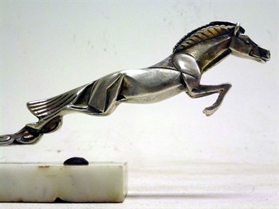 Lot 37-Rosengart Leaping Horse Mascot by Casimir Brau