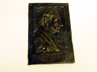 Lot 21-A Cast Bronze Charles Sykes Profile