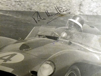 Lot 13-A Signed Mike Hawthorn Photograph