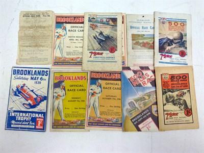 Lot 19-Eleven Brooklands Programmes