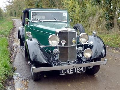 Lot 4-1936 Alvis Silver Eagle SG Drophead Coupe