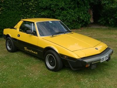 Lot 1-1983 Fiat X1/9 1500