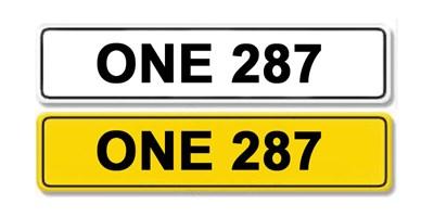 Lot 1 - Registration Number ONE 287