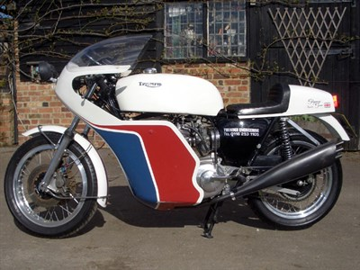 Lot 45-1976 Triumph T150 Trident 'Slippery Sam' Replica