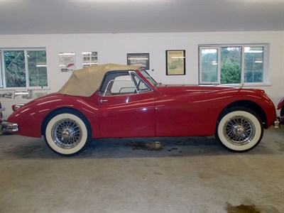 Lot 79 - 1956 Jaguar XK140 Drophead Coupe