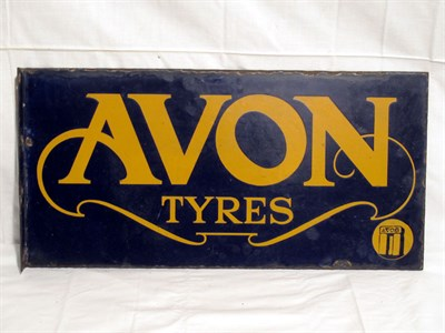 Lot 2-'Avon Tyres' Enamel Advertising Sign (R)