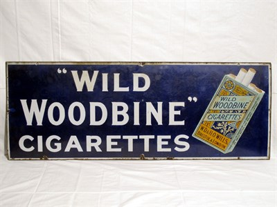 Lot 3-'Wild Woodbine Cigarettes' Pictorial Enamel Advertising Sign (R)