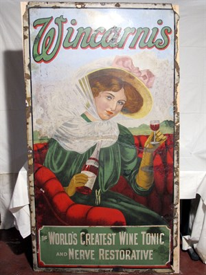Lot 4-'Wincarnis Wine Tonic' Large-Format Pictorial Enamel Advertising Sign (R)