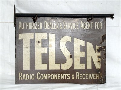 Lot 5-'Telson Radio Components' Enamel Advertising Sign (R)