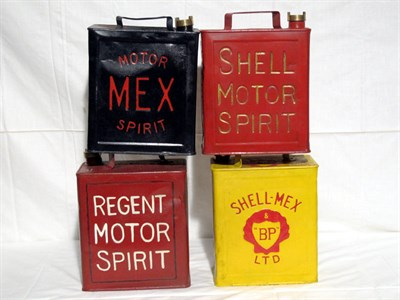 Lot 8-Four Restored 2-Gallon Petrol Cans (R)