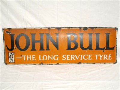 Lot 9-'John Bull The Long Service Tyre' Enamel Advertising Sign (R)
