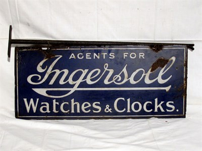 Lot 11-'Ingersoll Watches & Clocks' Enamel Advertising Sign (R)
