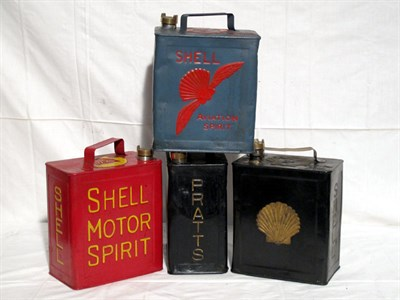 Lot 13-Four Restored 2-Gallon Petrol Cans (R)