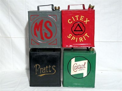 Lot 14-Four Restored 2-Gallon Petrol Cans (R)