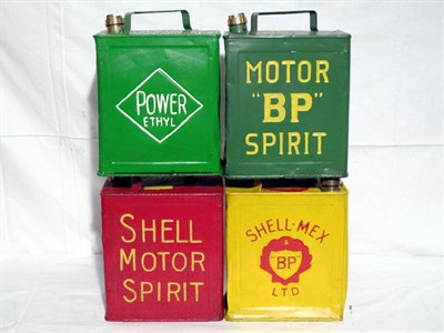 Lot 15-Four Restored 2-Gallon Petrol Cans (R)